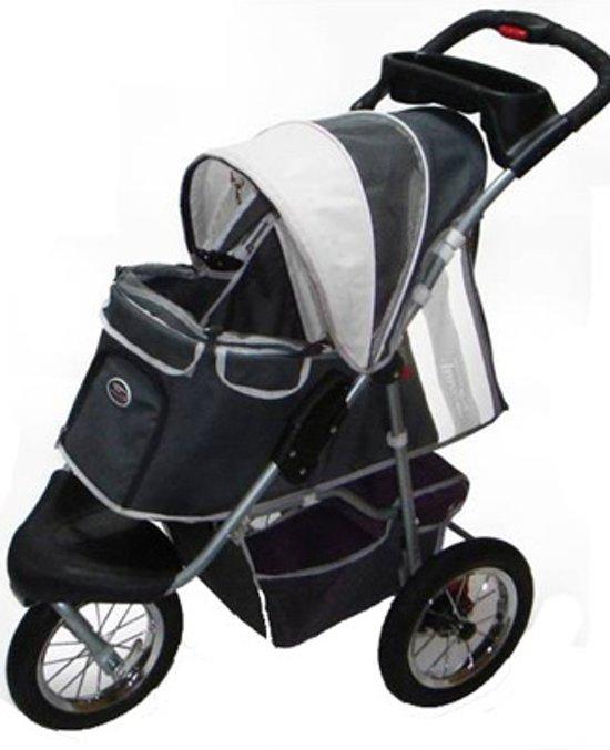 Afbeelding van de Hondenbuggy Comfort Air Grijs/Zwart met luchtbanden