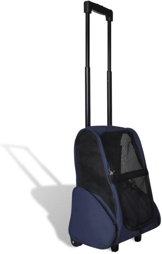 Afbeelding van de Huisdier Trolley met blauwe kleur