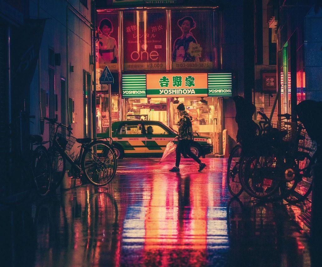 Afbeelding van een Japanse straat