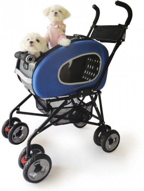 Afbeelding van de Innopet Buggy 5 in 1 in het blauw, een veelzijdige hondenbuggy