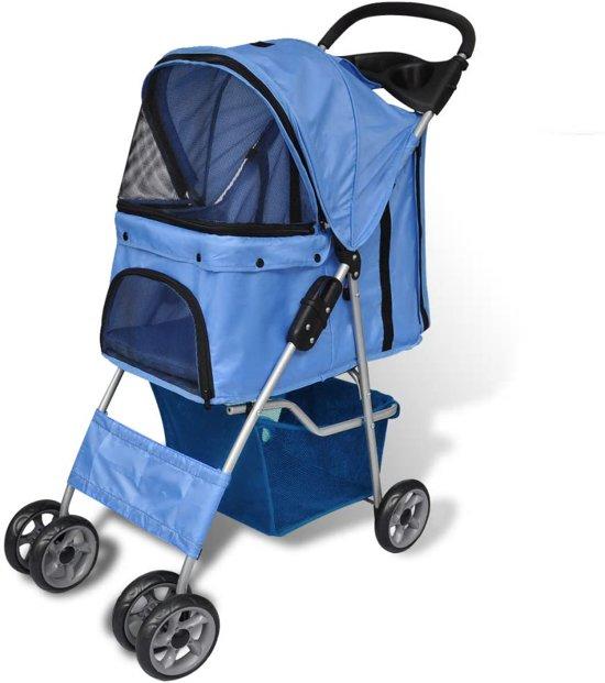 Afbeelding van de Hondenbuggy die het meest goedkoop is: de VidaXL in het blauw