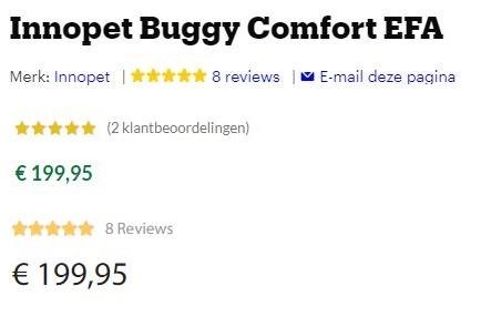 Samenvatting alle beoordelingen van de Innopet Buggy Comfort EFA: Alle reviews zijn positief