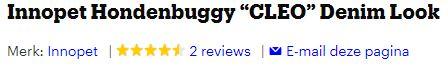 Afbeelding van reviews van de buggy bij bol.com: 4.5 sterren van de 5