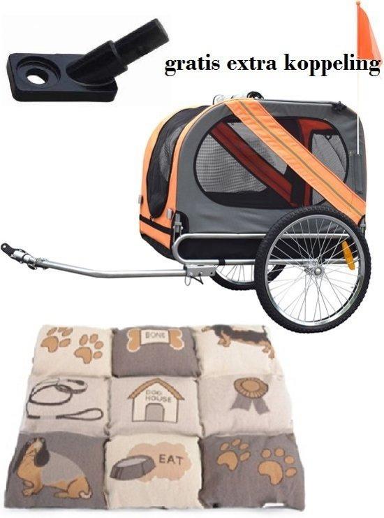 Afbeelding van de Duvo hondenfietskar met extra's