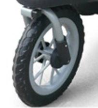 Voorwiel van de buggy