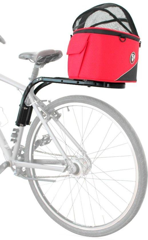 Afbeelding van de DoggyRide Cocoon, vastgemaakt aan een fiets