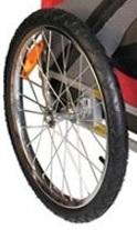 Afbeelding van de grote wielen van de DoggyRide Original