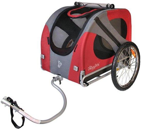Afbeelding van de rode DoggyRide Original hondenfietskar