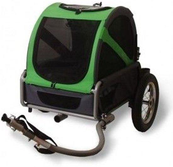 De groene DoggyRide Mini van de voorkant af gezien