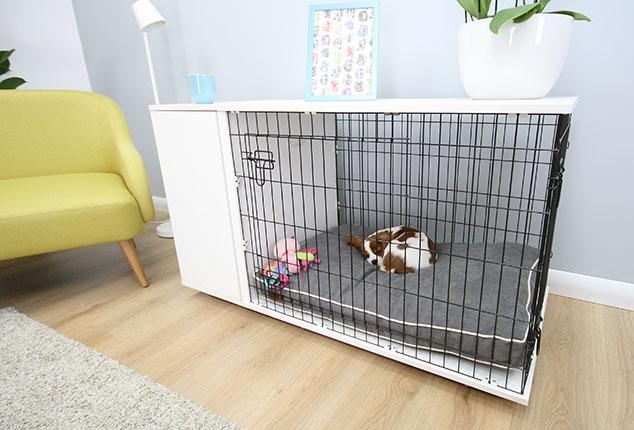 Afbeelding van de Fido Studio Hondenbench met hondje