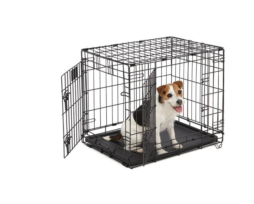 Afbeelding van kleine hondenbench met een hondje
