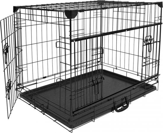 Afbeelding van de Ninja Draadkooi met open deuren, een stevige hondenbench met beschermde hoeken