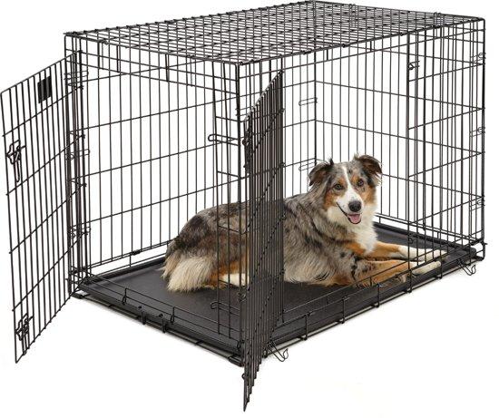 Afbeelding van de Petstore Hondenbench in het zwart