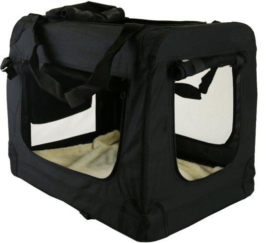 Afbeelding van de Topmast Autobench een nylon hondenbench in het zwart