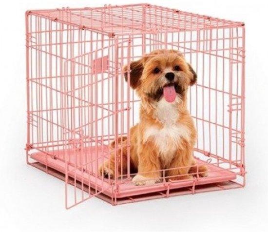 Afbeelding van roze hondenbench van het merk Topmast