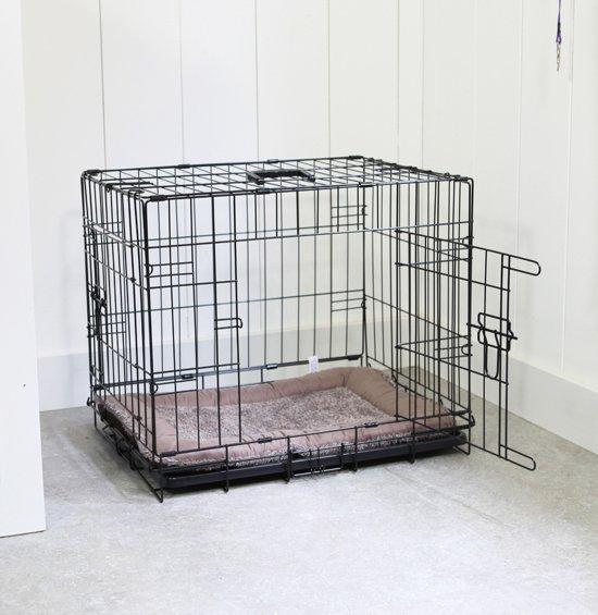 Afbeelding van de opvouwbare Adori hondenbench met open deurtje