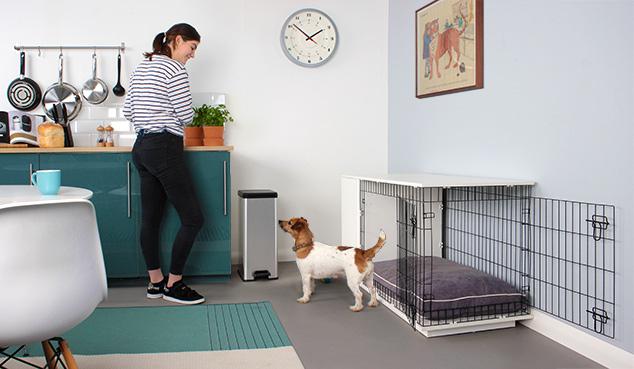 Afbeelding van de Studio Fido hondenbench met kast