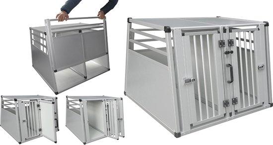 Afbeelding van de Nobby Vervoersbox,  een dubbele hondenbuggy voor in de auto