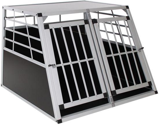 Afbeelding van de Topmast Autobox, een dubbele hondenbench