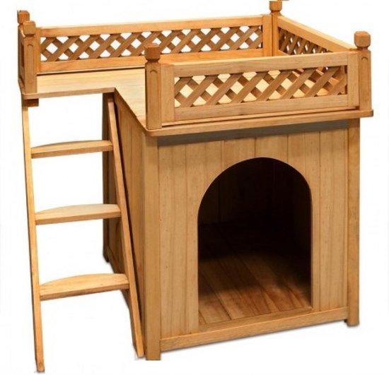 Afbeelding van hondenhok met balkon