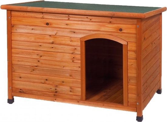 Woodland bruine hondenhok van hout