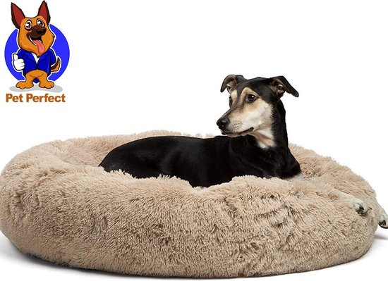 Afbeelding van de Pet Perfect Donut hondenmand met hond