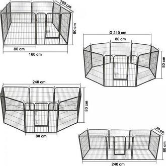 Afbeelding van de 4 vormen van de Tectake inclusief formaat