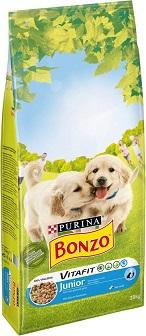 Afbeelding van Bonzo Vitafit Junior hondenbrokjes met puppy's op de voorkant