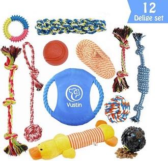 Afbeelding van een puppy speelgoed set