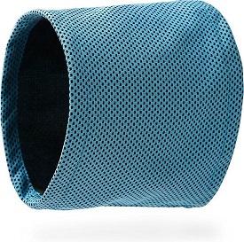 Afbeelding van een blauwe koelhalsband voor een hond