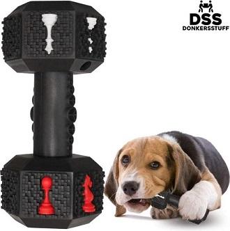 Afbeelding van de Donkerstuff dumbell, kauwspeeltje met hond