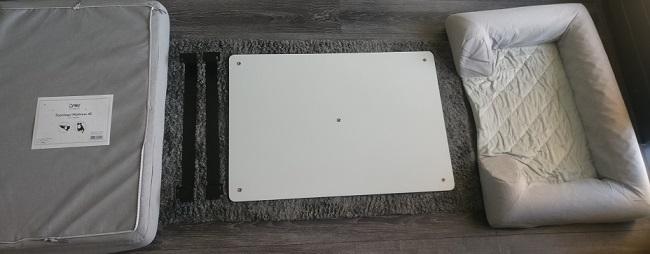 Afbeelding van de losse onderdelen van de Topology