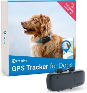 Afbeelding van de Tractive GPS Tracker met hond