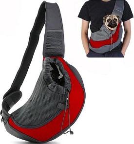 Afbeelding van de Dog n Go Buikdrager met een hond