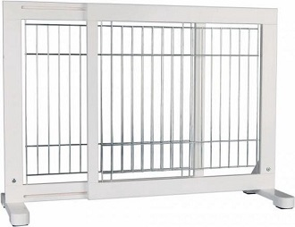Afbeelding van het uitschuifbare hekje voor een hond van Trixie