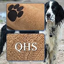 Afbeelding van de Groene Beer Hondenhanddoek met logootje