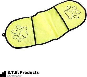 Afbeelding van de gele BTB Hondenhanddoek