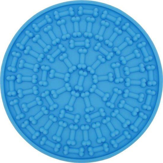 Afbeelding van een ronde afleidingspad voor in de Hondendouche