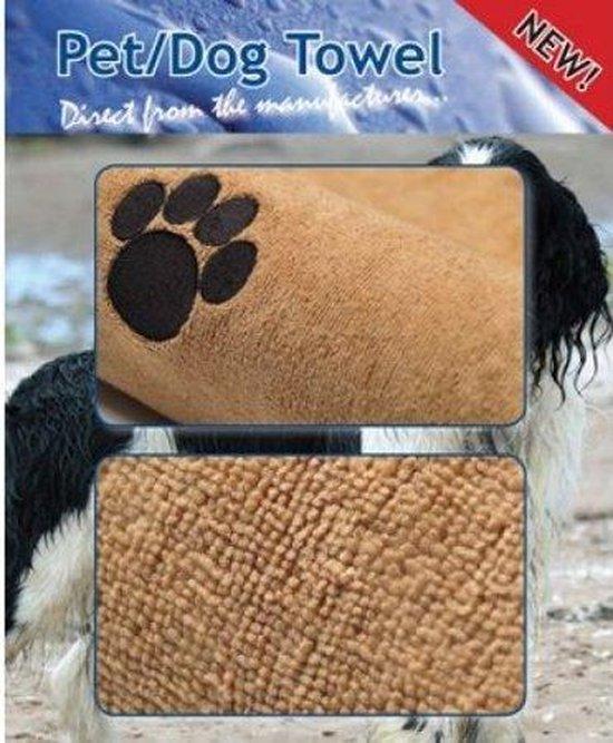 Afbeelding van een hondenhanddoek