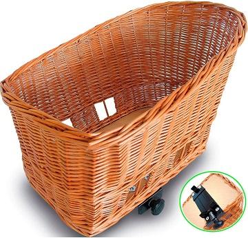 Afbeelding van de Basil Pasja fietsmand tot 15 kg
