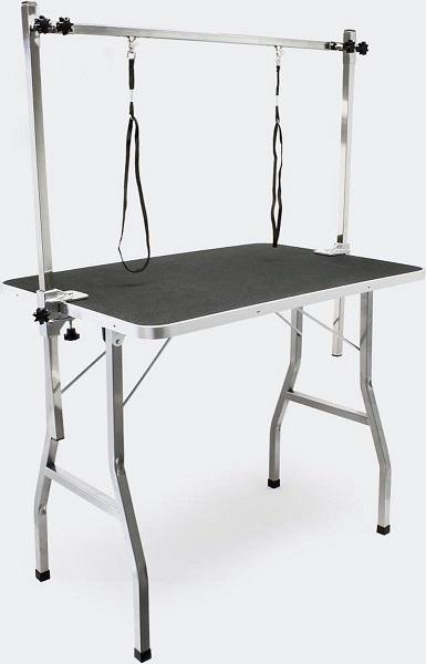 Afbeelding van de Wiltec trimtafel die opvouwbaar is