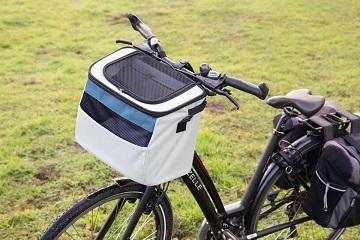 Afbeelding van de Xoex hondenmand op een fiets